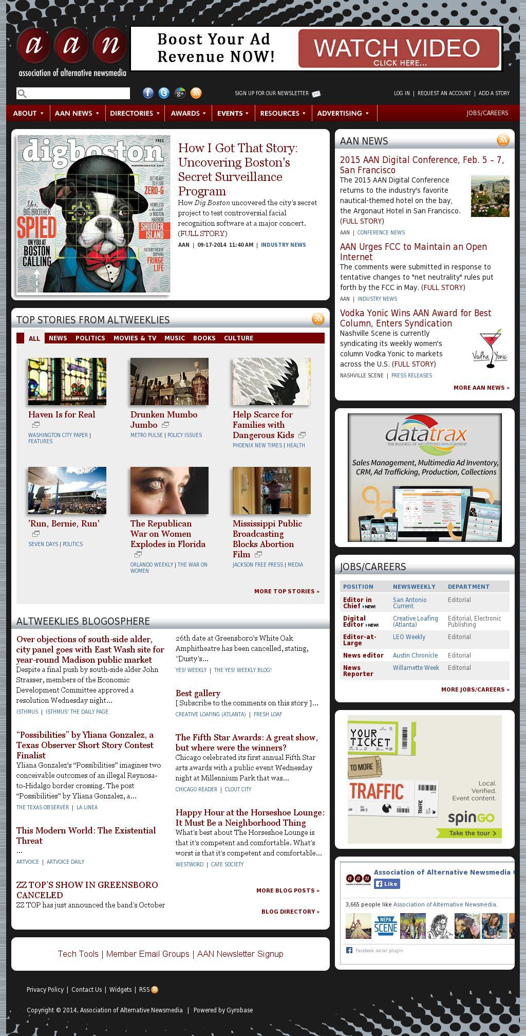 Association of Alternative Newsmedia at Thursday Sept. 18, 2014, 11 p.m. UTC
