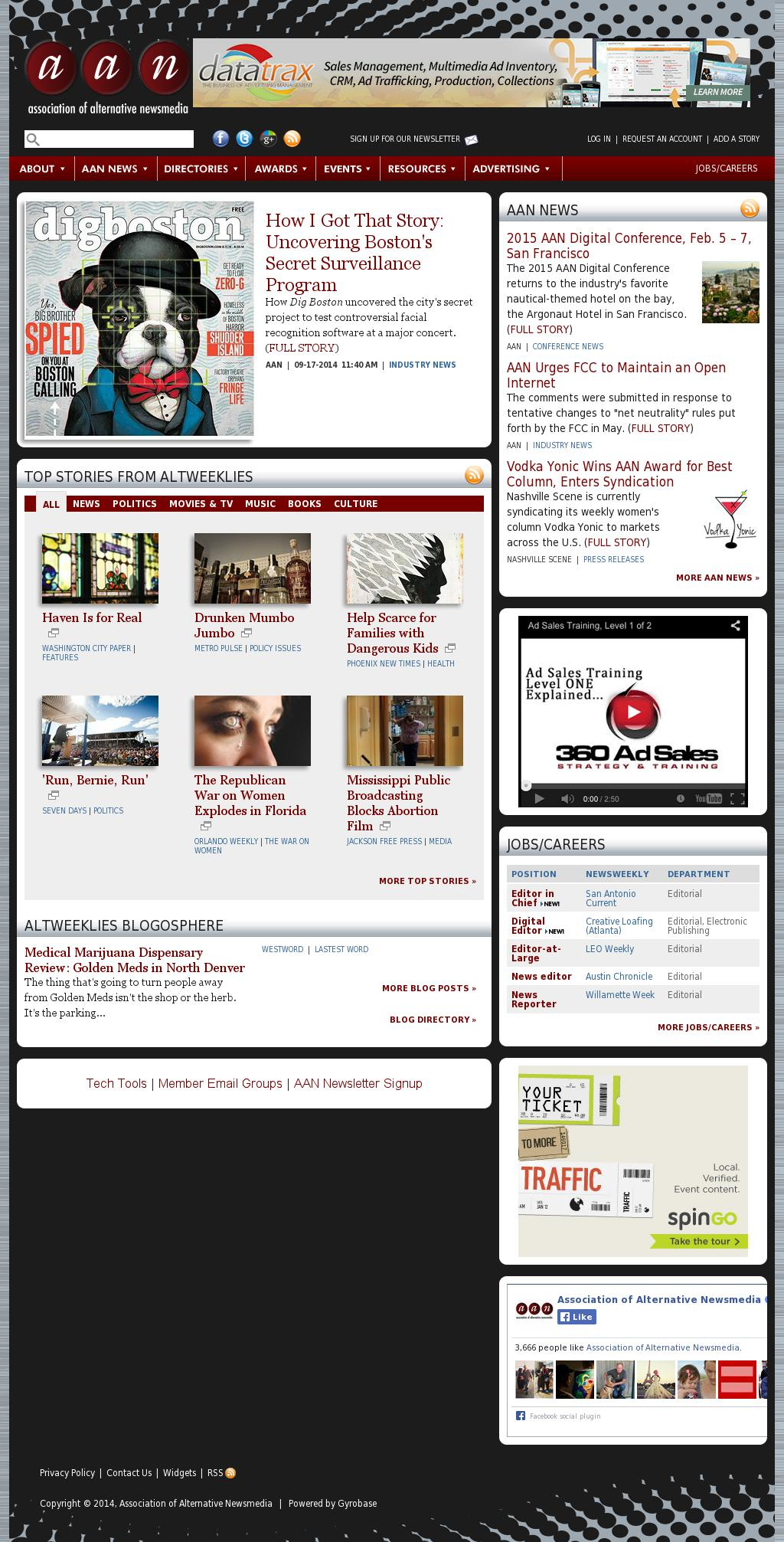 Association of Alternative Newsmedia at Friday Sept. 19, 2014, 11 a.m. UTC