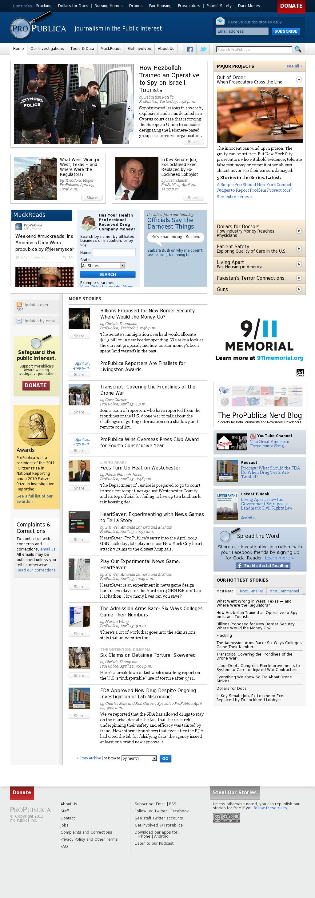 ProPublica at Saturday April 27, 2013, 5:19 p.m. UTC