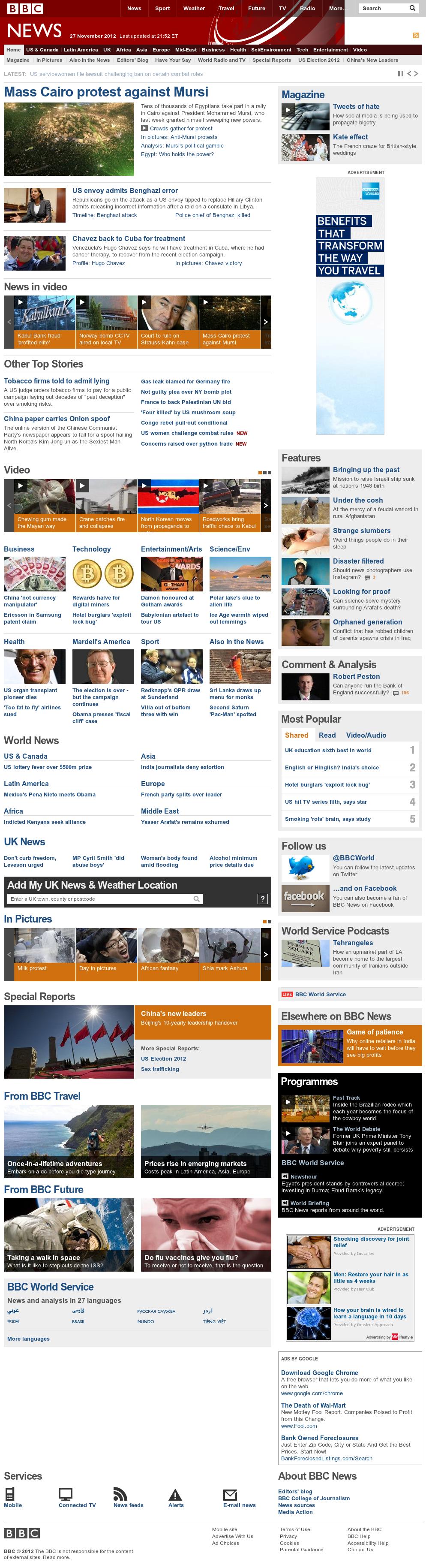 BBC at Wednesday Nov. 28, 2012, 3:02 a.m. UTC