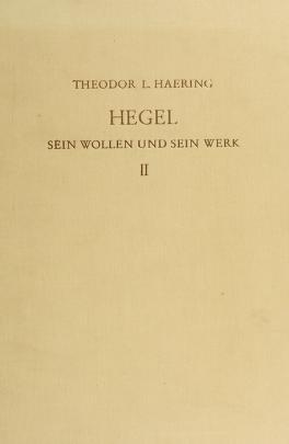 Cover of: Hegel | Theodore Lorenz Haering